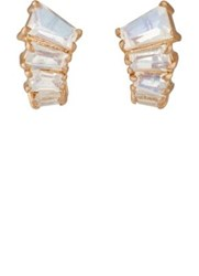 Nak Armstrong Women's Rainbow Moonstone Ear Jackets Pink