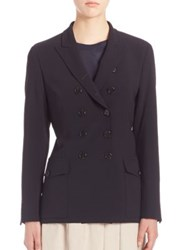 Pauw Double Breasted Wool Blazer Navy