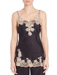 Josie Natori Lolita Lace And Silk Camisole Black