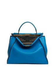 Fendi Peekaboo Large Studded Leather Satchel