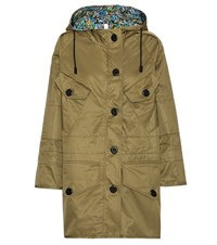 Coach Shrunk Reversible Parka Green