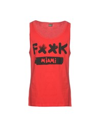 F K Project Tank Tops Red