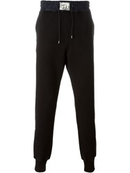 Marc Jacobs Contrasted Waistband Track Trousers Black