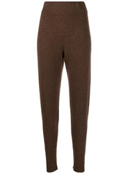The Elder Statesman Cashmere Knitted Track Pants 60