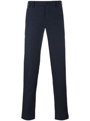 Incotex Tapered Straight Trousers Blue