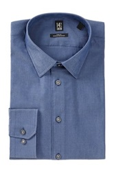 14Th And Union Trim Fit Woven Dress Shirt Blue
