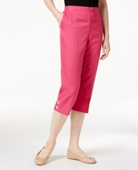 Alfred Dunner Petite Reel It In Cutout Detail Capri Pants Pink