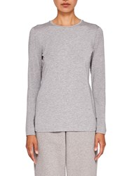 Ted Baker Says Relax Rojo Fitted Long Sleeve Top Light Grey