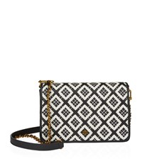 Tory Burch Robinson Quilted Chain Wallet Bag Female Black