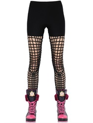 Manish Arora Embellished Cutout Jersey Leggings