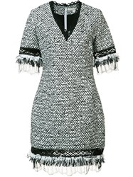 Jonathan Simkhai V Neck Boucle Dress White