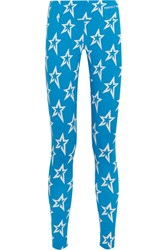 Perfect Moment Printed Stretch Leggings Blue