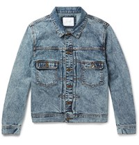 Saturdays Surf Nyc Ray Acid Washed Denim Jacket Dark Denim