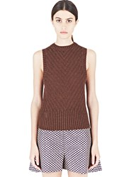 Marni Thick Knitted Tank Top Brown