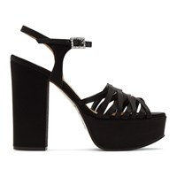 Marc Jacobs Black The Glam Heeled Sandal