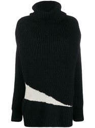 Ann Demeulemeester Contrast Roll Neck Sweater 60