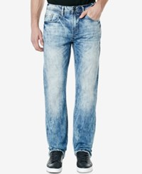Buffalo David Bitton Men's King X Slim Fit Bootcut Stretch Jeans Ripped Indigo