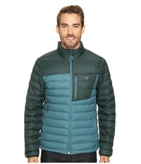 Mountain Hardwear Dynotherm Down Jacket Cloudburst Dark Forest Men's Coat Blue