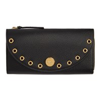 See By Chloe Black Kriss Long Zip Wallet