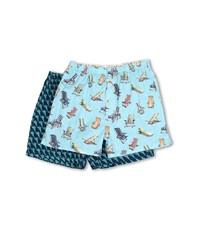 Tommy Bahama 2 Pack Island Washed Cotton Boxer Blue Water Men's Underwear Multi