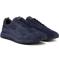 Officine Creative Race Suede Sneakers Navy