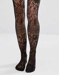 Asos Lace Over The Knee Tights Black