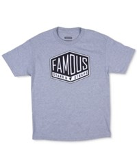 Famous Stars And Straps Men's Graphic Print Logo T Shirt Hthr Grey