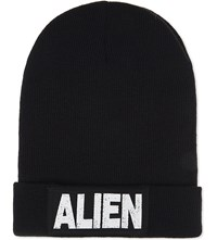 Nicopanda Alien Cotton Beanie Black