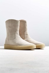 Urban Outfitters Uo Marvin Wedge Crepe Boot Natural
