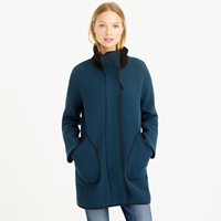 J.Crew Double Cloth Tipped Patch Pocket Cocoon Coat