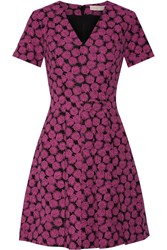 Michael Michael Kors Jacquard Mini Dress Fuchsia