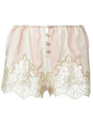Rosamosario Lace Application Striped Boxers Pink And Purple