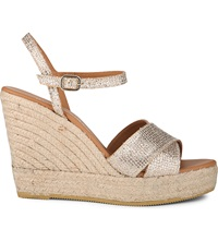 Kurt Geiger Amerie Wedge Sandals Peach