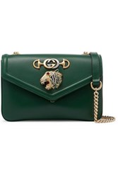 Gucci Rajah Small Embellished Leather Shoulder Bag Green