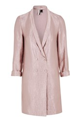 Topshop Tall Double Breasted Blazer Dress Blush
