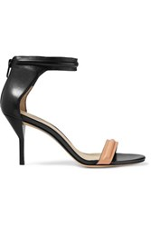 3.1 Phillip Lim Two Tone Leather Sandals Black