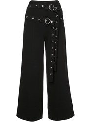Cinq A Sept Riveted O Belt Trousers Black