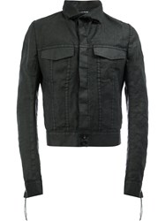 Cedric Jacquemyn Cropped Denim Jacket Black