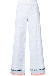 Lemlem Besu Wide Leg Trousers Blue