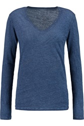 Majestic Overdyed Cotton Cashmere And Silk Blend Jersey Top