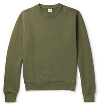 Aspesi Garment Dyed Loopback Cotton Jersey Sweatshirt Green