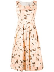 Eggs Floral Print Dress Women Cotton Polyester Acetate 40 Nude Neutrals