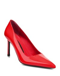 Via Spiga Nikole Shiny Pointed Pumps Red