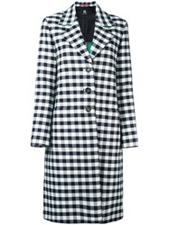 Paul Smith Ps By Checked Single Breasted Coat Black
