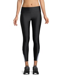 Lanston Wyatt Colorblock Performance Leggings Black Blue