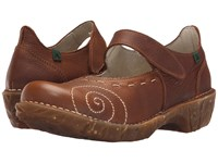 El Naturalista Yggdrasil N095 Wood Women's Maryjane Shoes Brown