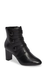 Clarks Chryssa Ella Bootie Black Leather
