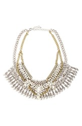 Junior Women's Leith Crystal And Fringe Layered Statement Necklace