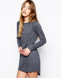 By Zoe Lounge Long Sleeved Jersey Dress Marine