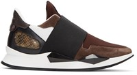 Givenchy Burgundy Runner Slip On Sneakers